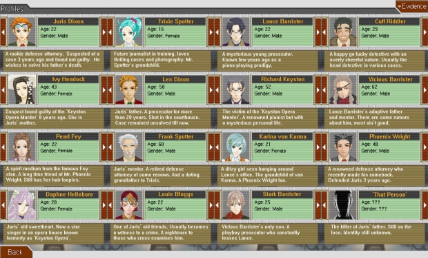 Ace Attorney: Juris Dixon Character Profiles