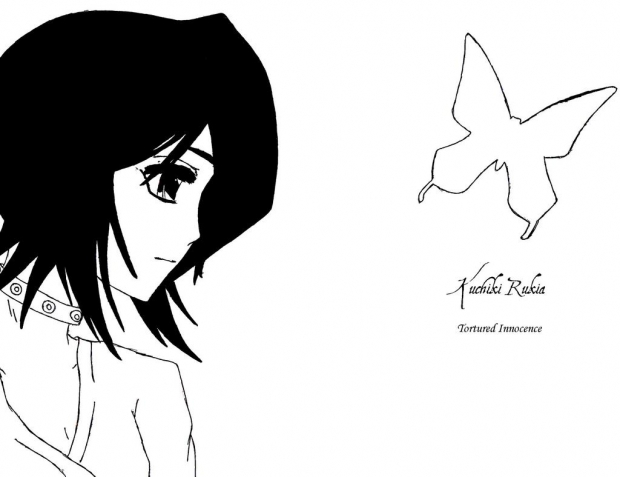 Kuchiki Rukia, Tortured Innocence - Black and White
