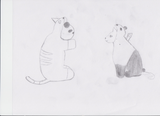 Cat in a Panda suit and vice versa