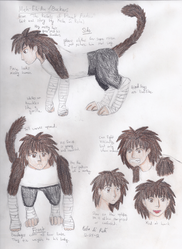 Character Design: Meh-Eh-Au