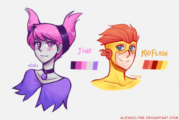 Jinx and Kid Flash