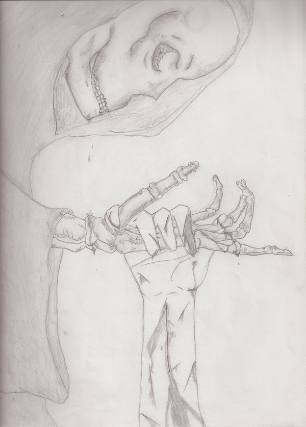 In deaths hand