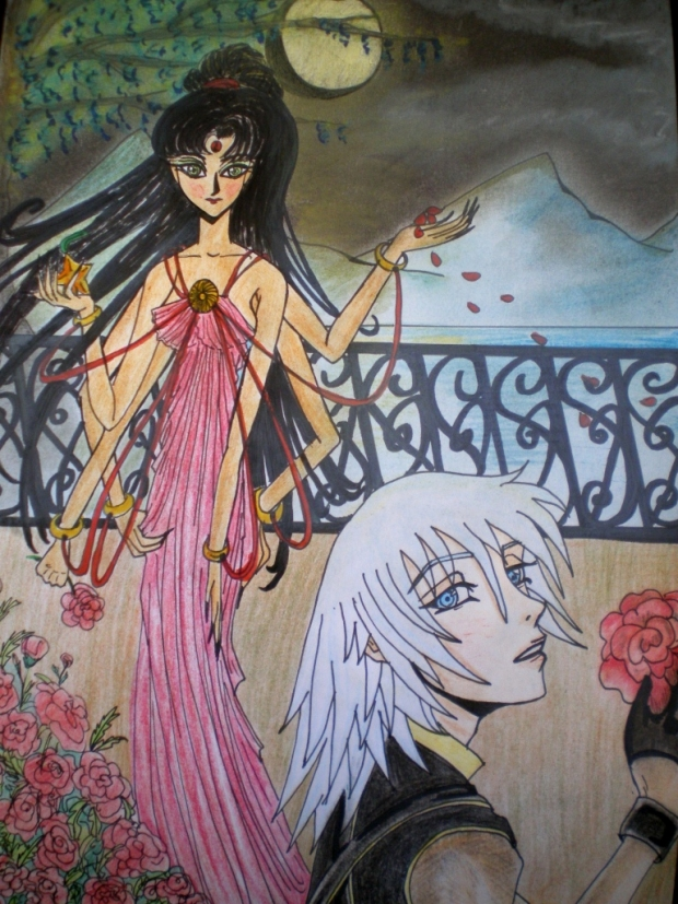 "Sumati meets Riku in the ""Radiant Garden"""