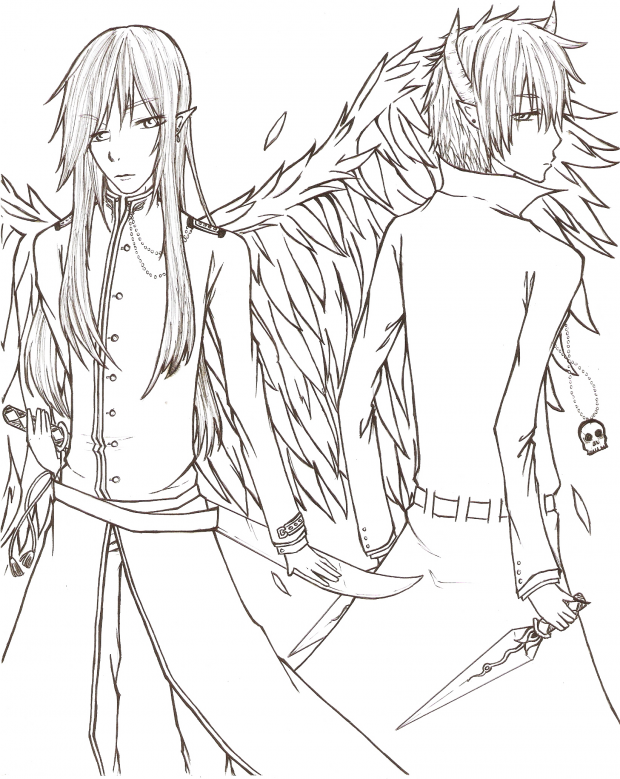 Good and Evil : Uncolored