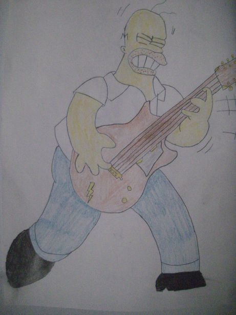homer simpson rocks
