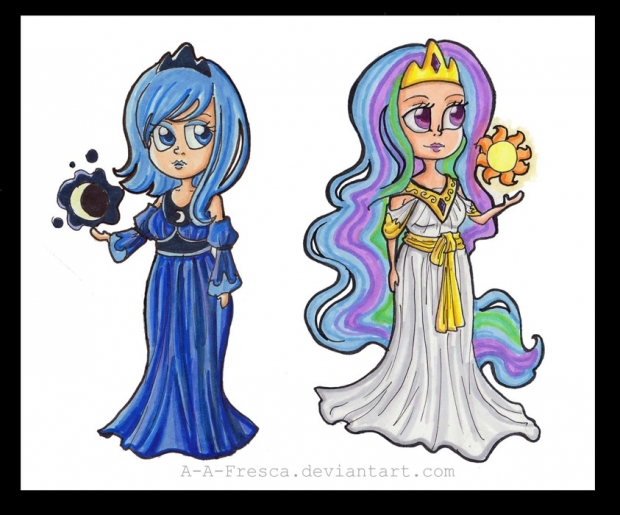 MLP - Human Celestia and Luna