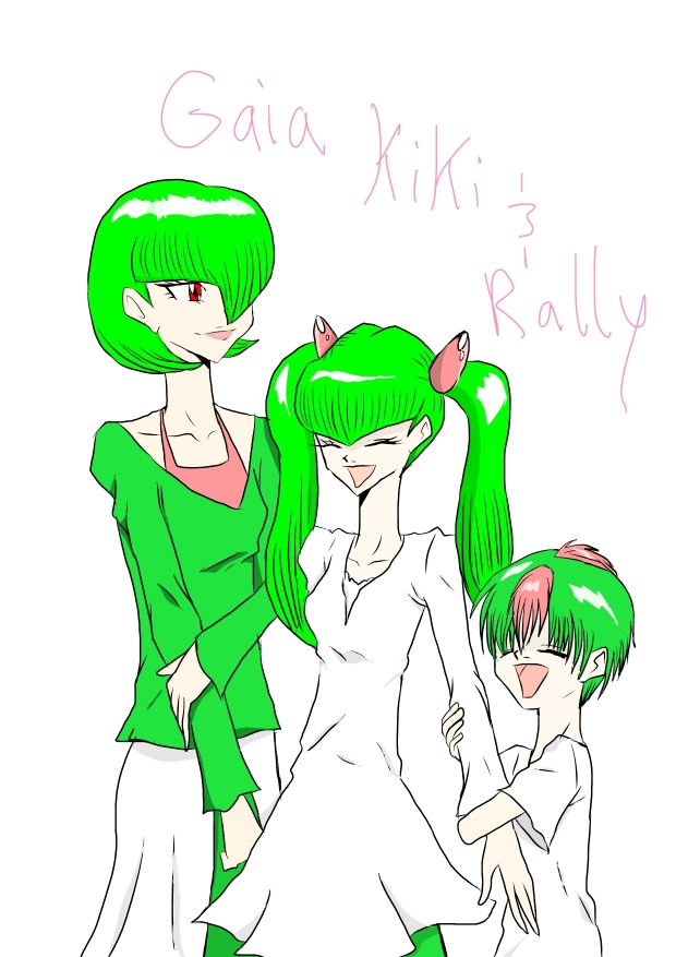 My Gijinka OCs Gaia, Kiki and Rally