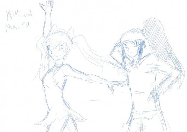 Ballet VS Hip Hop rough sketch