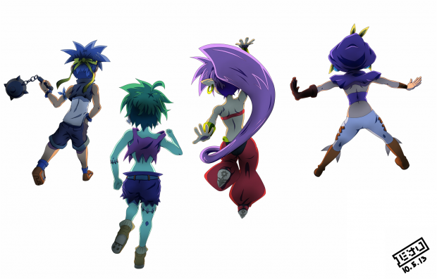 Shantae and Friends (no background)