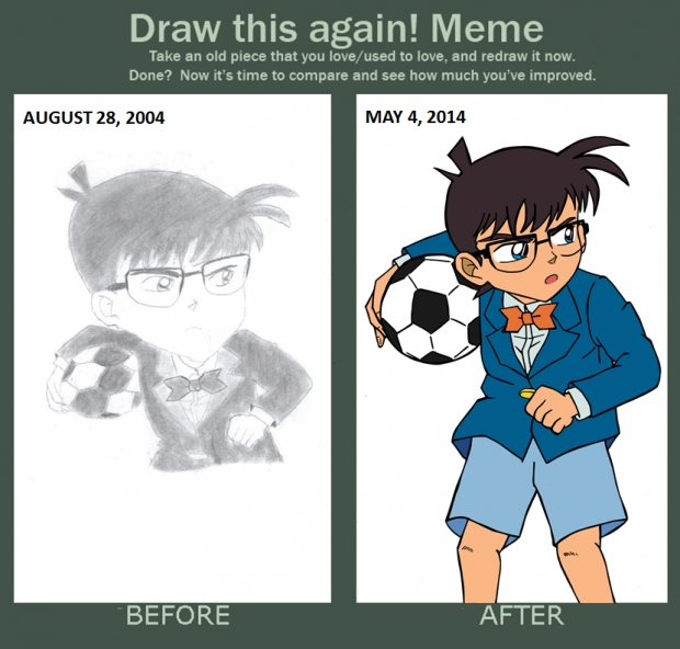 Draw-This-Again: Soccer-Loving Conan