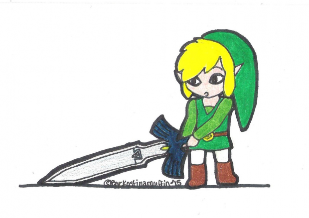 Link's Sword Is Too Big.