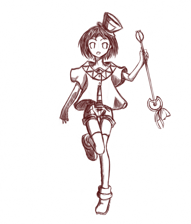 "Character Sketch ~White Mage~ ""Rose"""