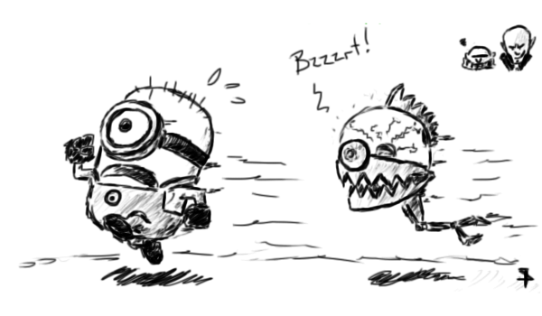 Art Trade #2: Minion vs. Brainbot