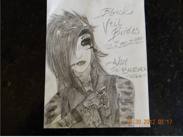 Andy Biersack drawing attempt