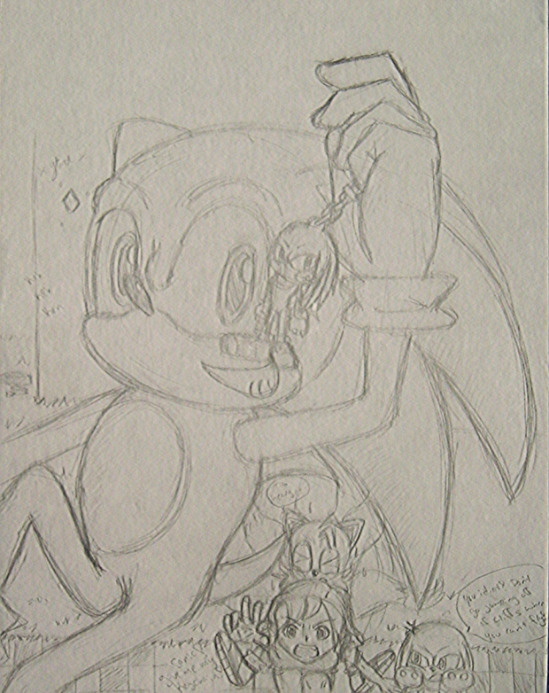 Sonic my keychain! (unfinished)