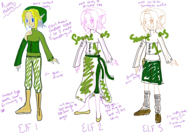 Ushio's Elf - Outfit concepts