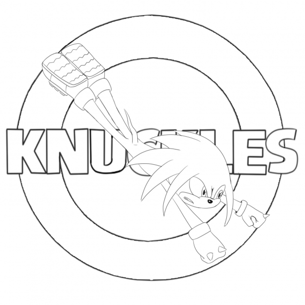 Knuckles Line art