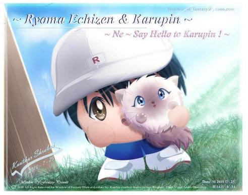 Ryoma and Karupin in bomb style