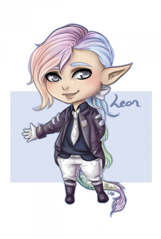 Art trade chibi - Leon