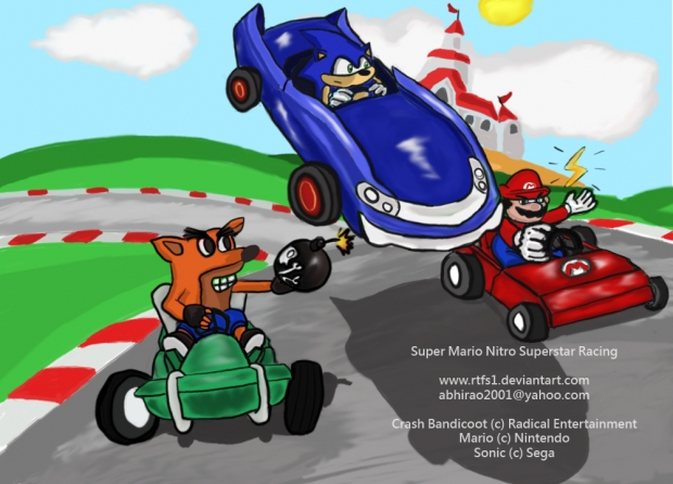 Super crossover Kart Racing