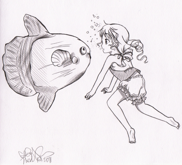 Swimming with Sunfish