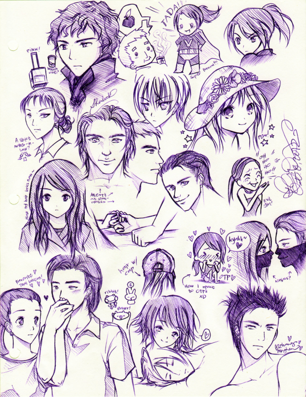 Purple Pen Doodles