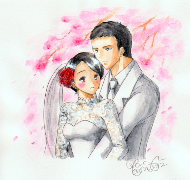 Cherry Blossoms Wedding