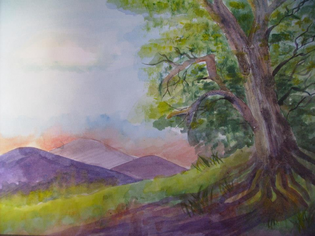 woodlands painting