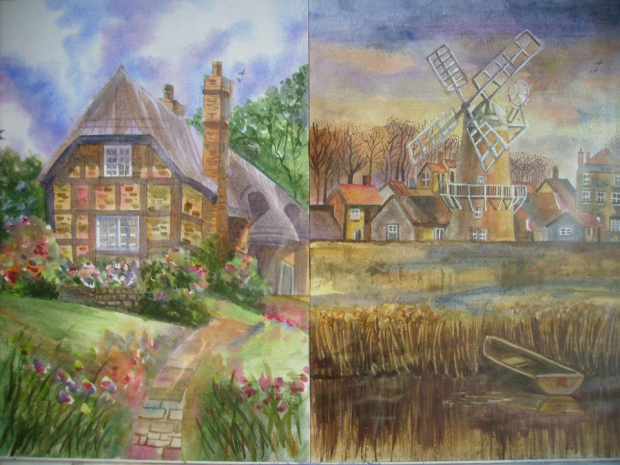 House/ Mill Painting