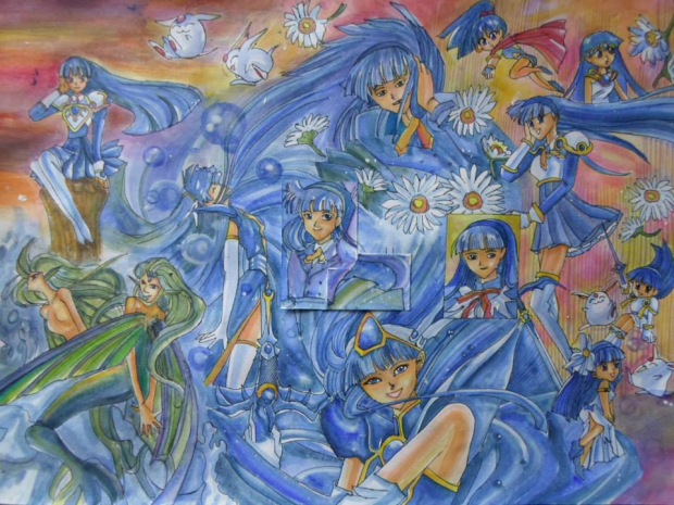 Magic Knight Rayearth- Umi Ryuuzaki Painting