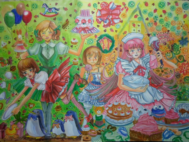 Sweet Party Painting A3