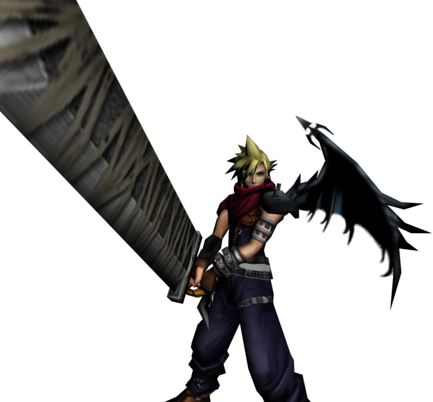 Cloud and His weapon of choice