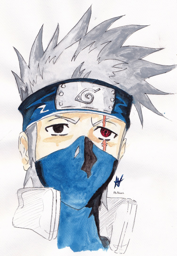 .Kakashi (watercolors?)
