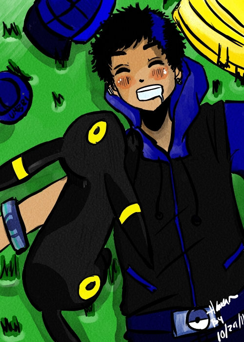 Aaron and Umbreon.