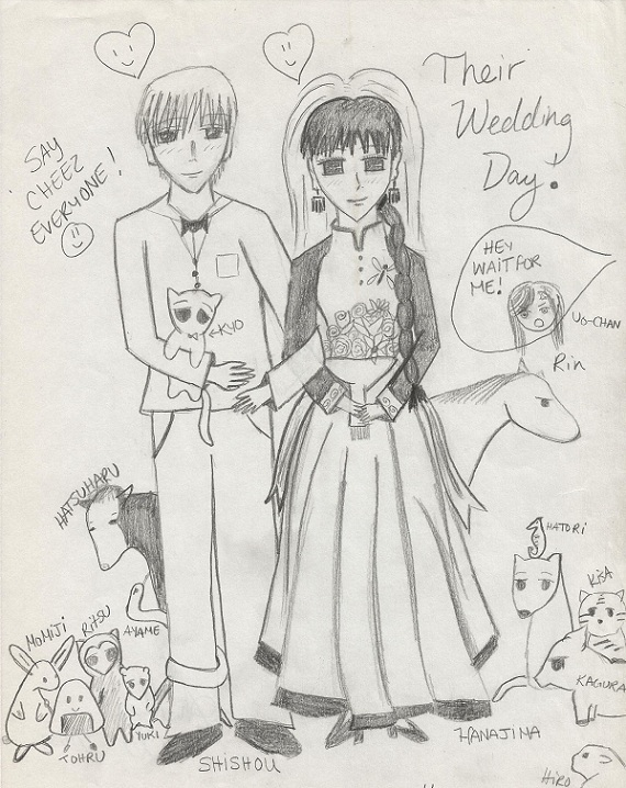 Shishou and Hanajima's wedding day !!!!