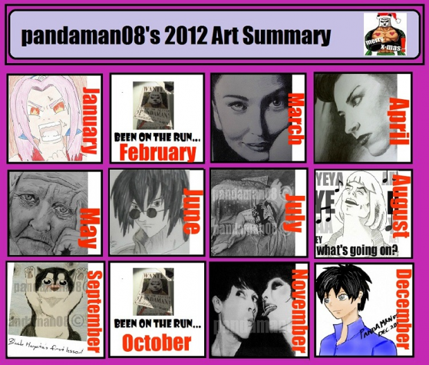 My art summary for 2012!!!
