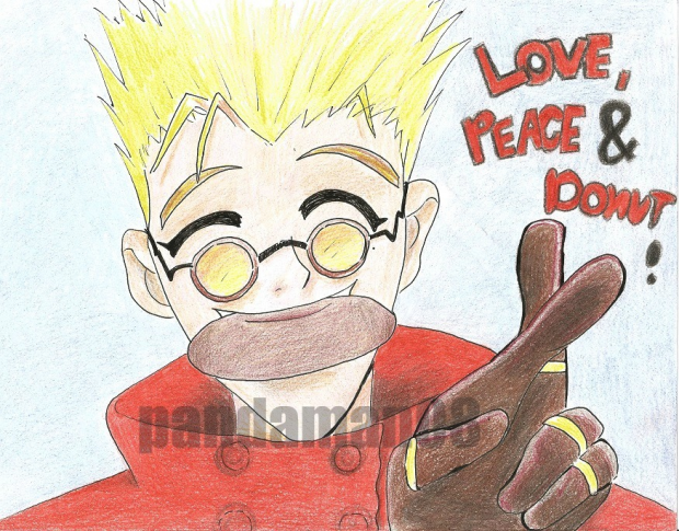Vash: Peace, Love and Donuts !! :D
