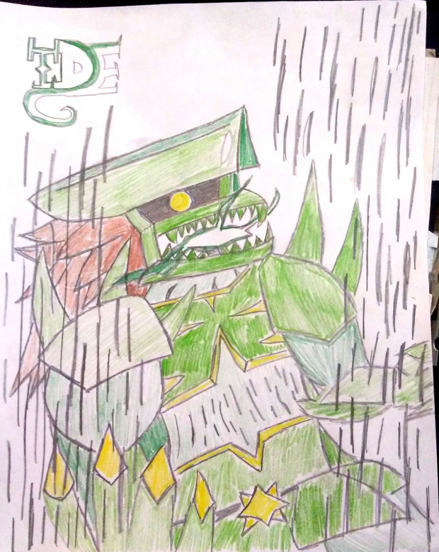 Green Mecha Dragon