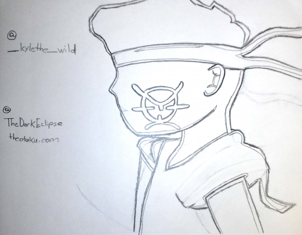 The Boondocks x FLCL (B&W Outline)