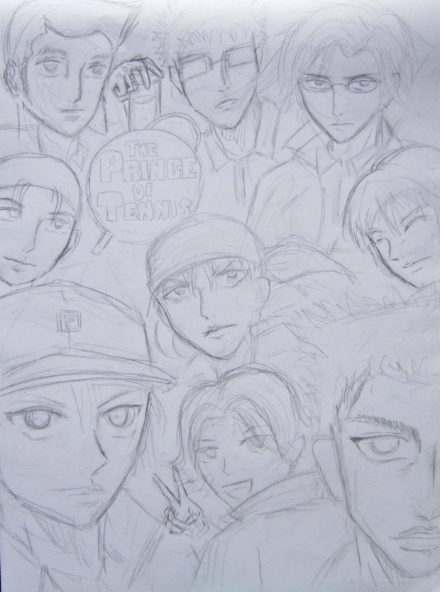 Draft of Seigaku Poster-Prince of Tennis