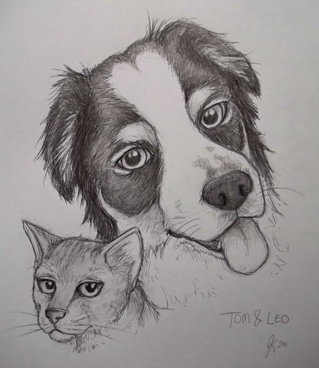 Tom and Leo sketch