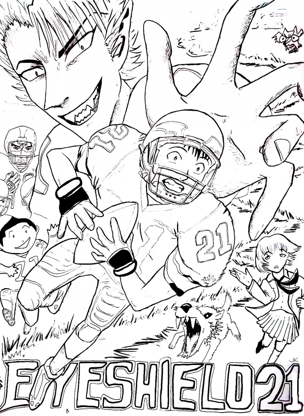 Eyeshield 21 line art