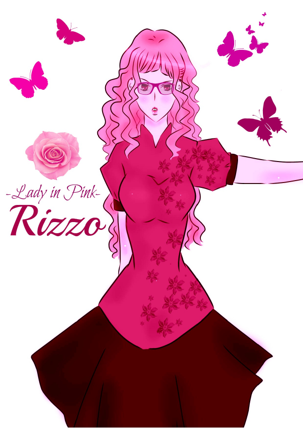 Rizzo-Lady in Pink
