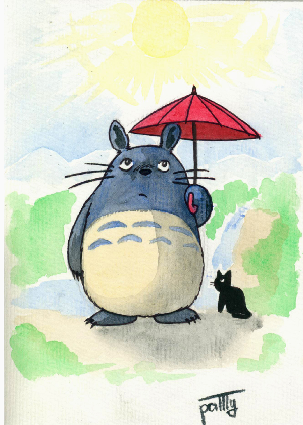 Totoro and his umbrella