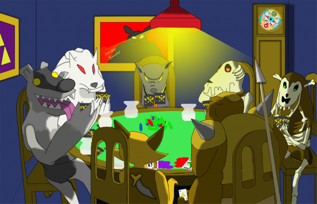 My Dawgs Playing Poker