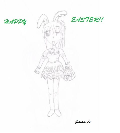 Easter bunny girl