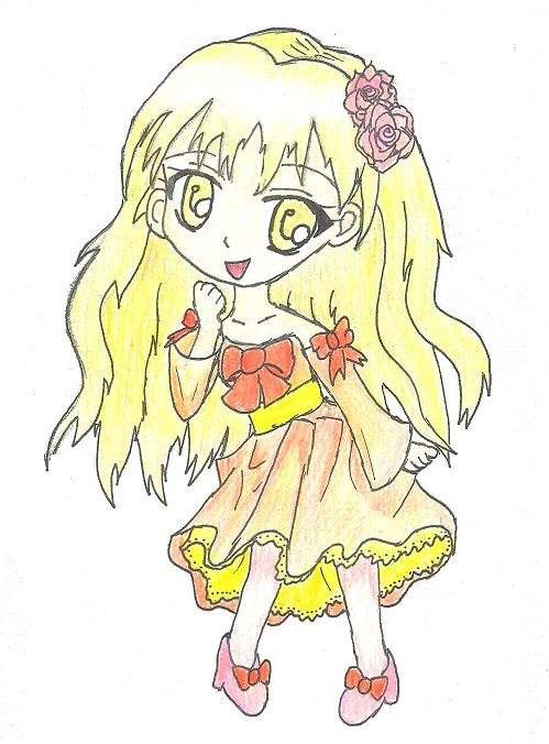 Yellow chibi girl