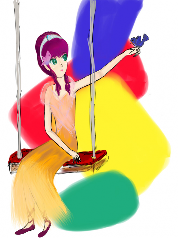 Princess on a swing
