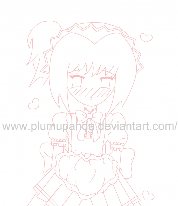 Mew Ume Lineart