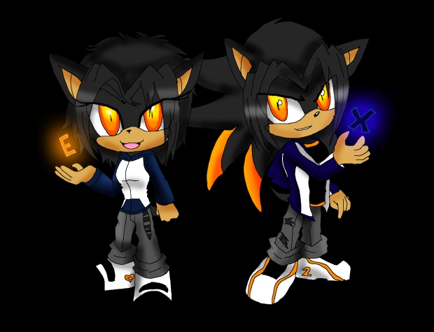E and X the Hedgehog Chibis